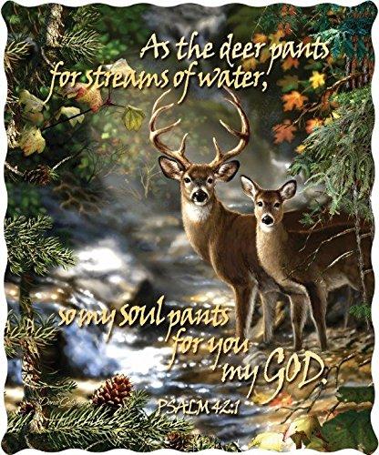 Deer Creek Quilt - Deer Creek with Scripture Verse Quilt Throw