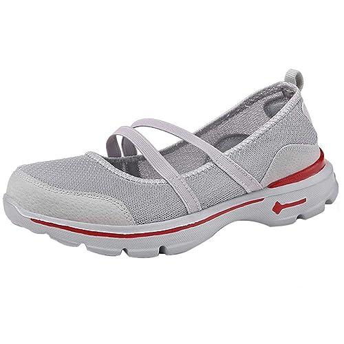 Mocasines de Malla de Plano para Mujer, QinMM Zapatos Respirable del otoño del Verano Casual Zapatillas Alpargatas Merceditas: Amazon.es: Zapatos y ...