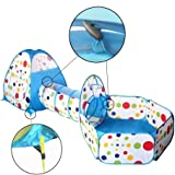 Travel Dream Foldable Kids Toddler Pop Up Play Tent with Tunnel and Ball Pit with Zippered Storage Bag For Kids Indoor Outdoor Playhouse Children Play Gaming Toys