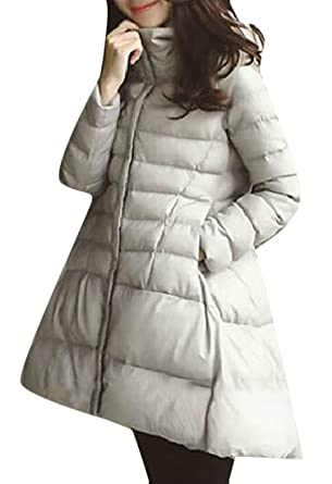 1c9bbd92faf Amazon.com  Pandapang Womens Winter Puffer Hooded Plus Size Swing Down  Parka Jackets  Clothing