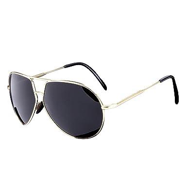 Amazon.com: hdcrafter Hombres Retro Aviator anteojos de sol ...