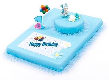 Tortendeko 1 Geburtstag Junge 8 Teilig Tortenaufleger 1 Geburtstag