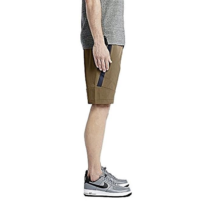 Nike mens TECH WOVEN 2.0 SHORT 746026-245_34 - Golden Beige/Obsidian