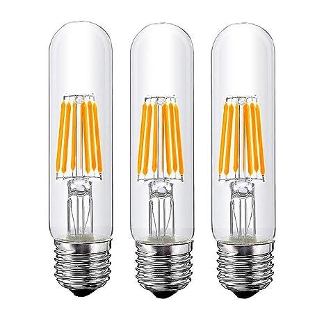 ebc1280058c T10 6W Tubular LED Bulb, Dimmable Led Edison Bulb,Led Filament Bulb, T10