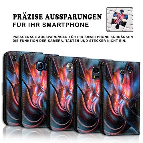 Wallet Book Style Flip Handy Tasche Case Schutz Hülle Schale Motiv Etui für Apple iPhone 6 Plus / 6S Plus - Design Flip MVD403