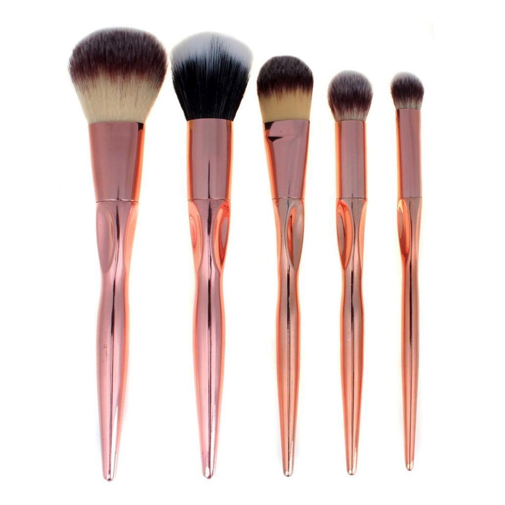 rose makeup brushes amazon. bessky 5pcs/set professional cosmetic makeup brush set (gold) rose brushes amazon 2