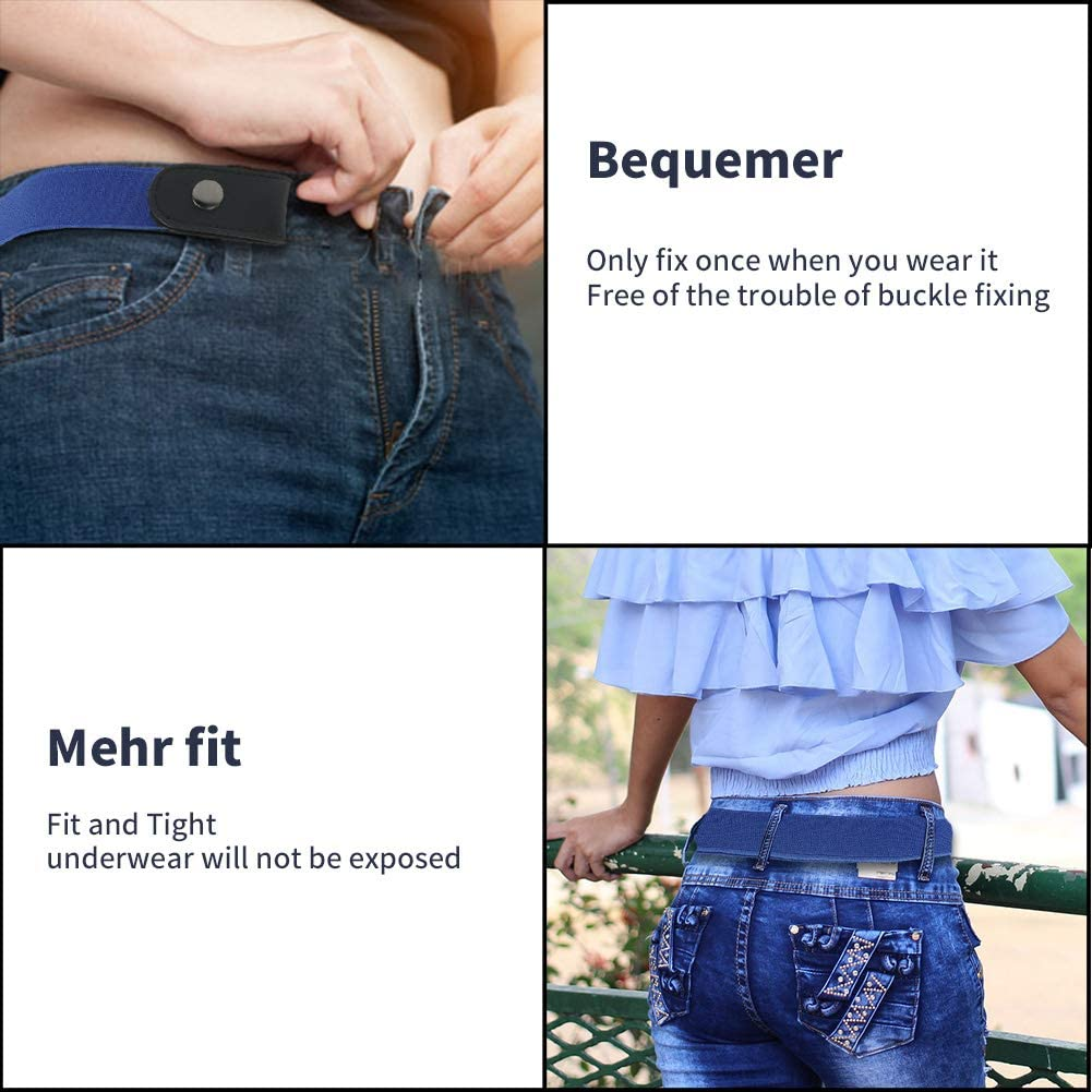 Gaosaili No Buckle Belt-Invisible Elastic Belt More Health For Waist Invisible Buckle-Free Elastic Belt