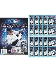2018 Topps MLB Baseball Sticker Collection Starter Kit (20 packs & 1 album)