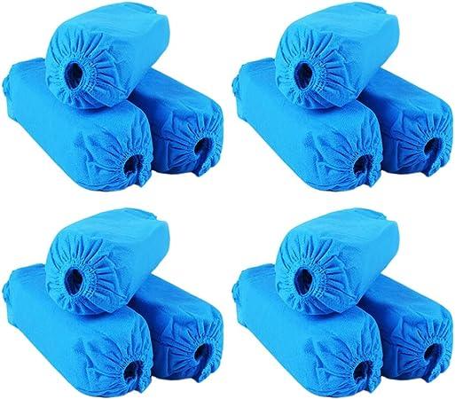 Rose Cabilock 100Pcs Chaussures Jetables en Tissu Non Tiss/é Couvre Protecteur de Chaussure Respirant Antid/érapant Anti-Poussi/ère avec Bande /Élastique