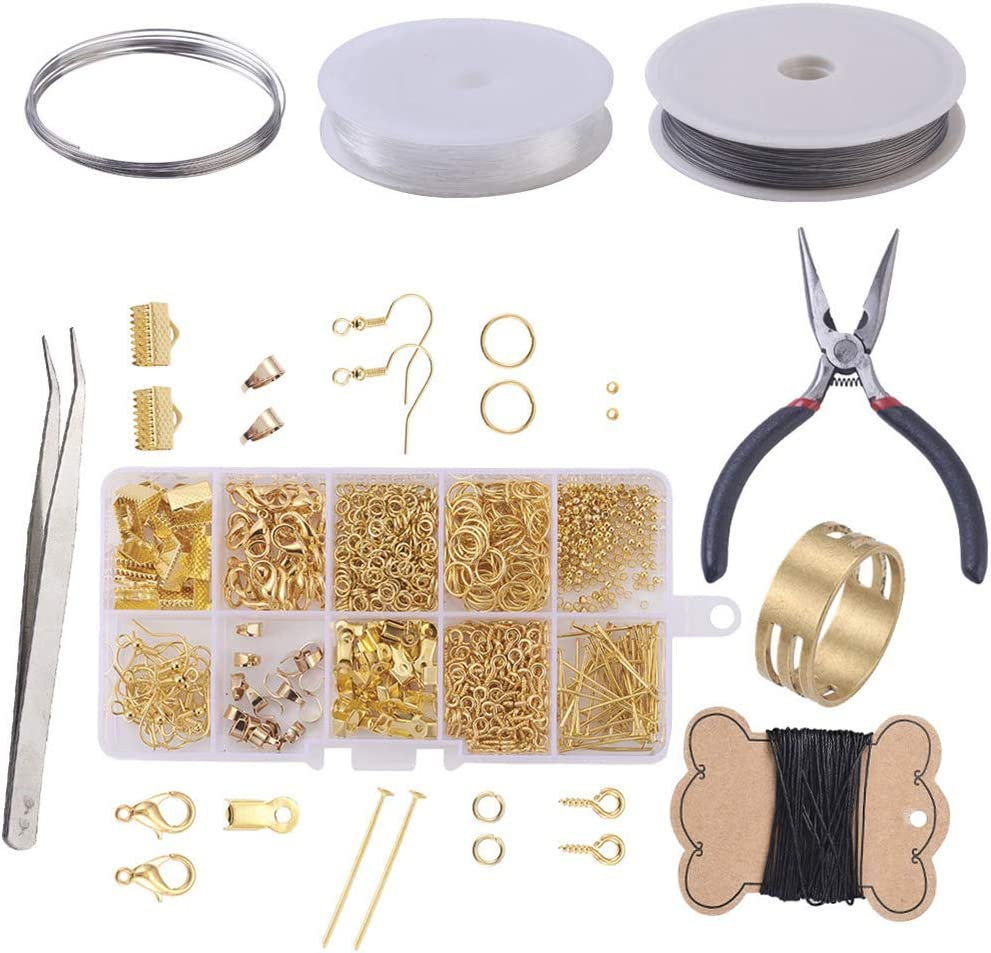 SUPVOX Golden Jewelry Findings Set Earring Making Accessories Kit di Orecchini per orecchino con attrezzo