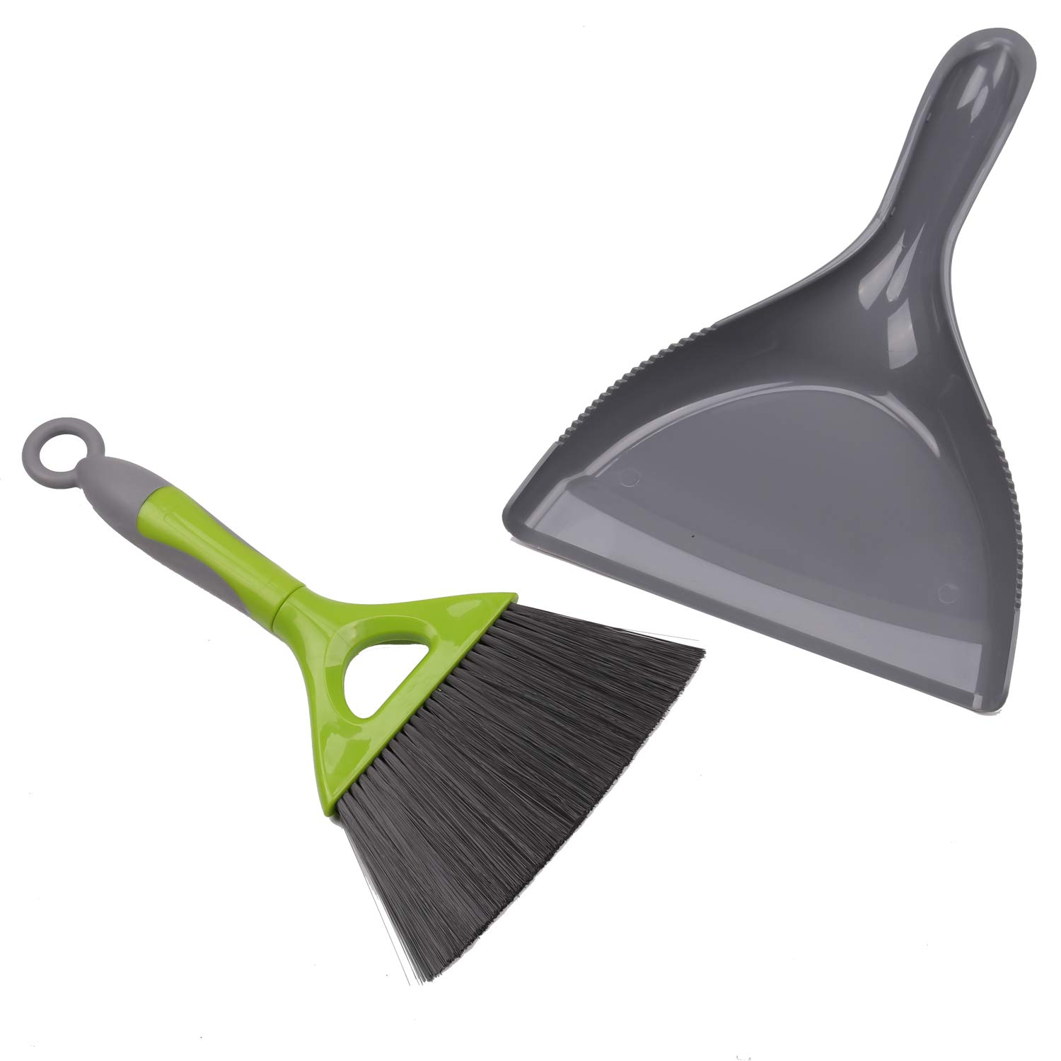 TreeLen Small Dustpan Brush for Sweeping up Cat/Kitty Litter,Mini Broom and Dustpan,for Table Count&Small Area Cleaning,Broom/Brush Clip on Dustpan