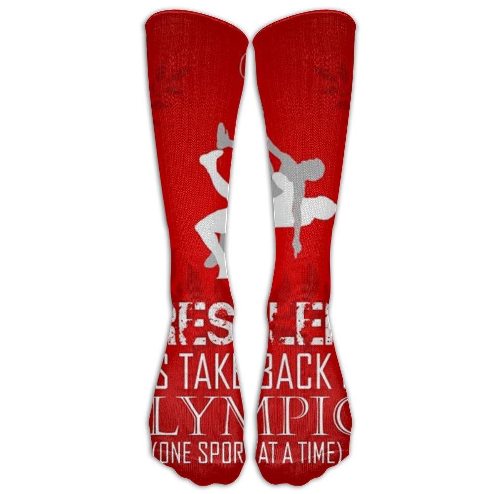 US Wrestling Sign Novelty Tube Socks For Unisex Driving Chic Long Socks by SEyuKBP