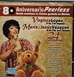 VIRGINIA LOPEZ Y SU TRIO IMPERIO & MARIA DE JESUS VAZQUEZ Y SU TRIO LOS CHAMAS[24 INOLVIDABLES] 80 ANIVERSARIO PEERLESS.[CD, Limited Edition, Import].