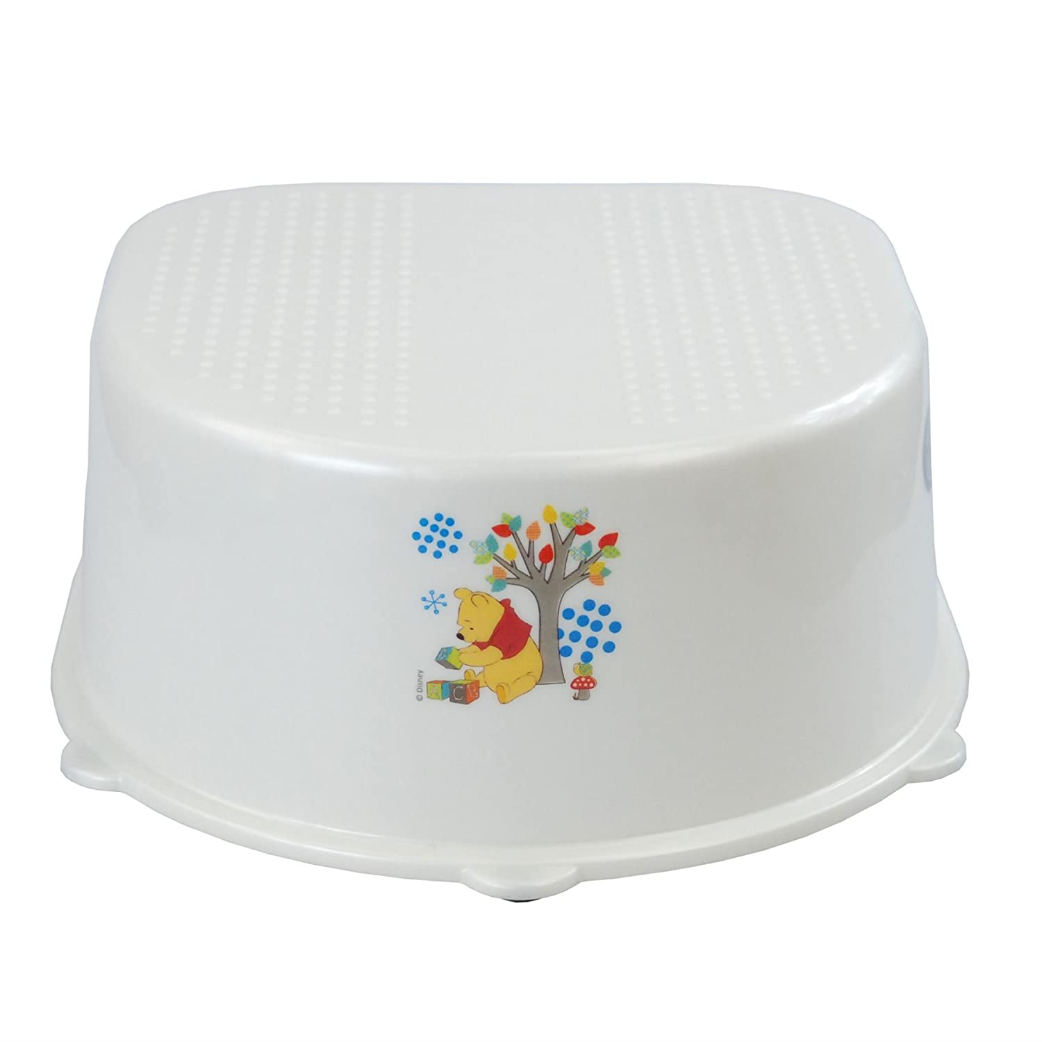Disney® Winnie The Pooh Child Infant Unisex Step Stool Potty Training Aid Safe Plastic Non Slip Bathroom Toilet Sink Stool