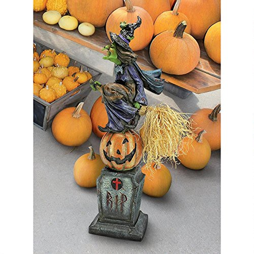 The Witches Midnight Halloween Ride Statue - Witch Statue - Halloween (Resin Tombstones Halloween)