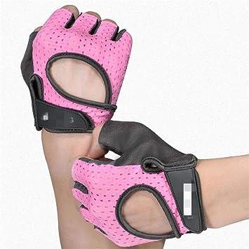 LUQRI Guantes de Fitness para Mujer, noqueadas de Medio Dedo ...