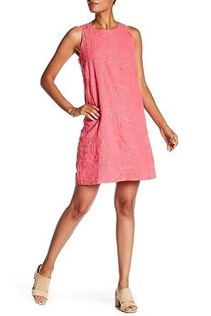 e743ddd833 Tommy Bahama Women s Monstera Mash Embroidered Linen Shift Dress (Classic  Pink