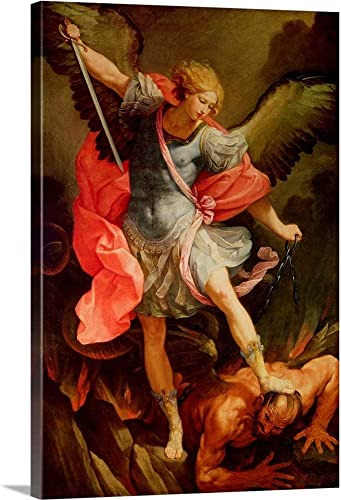 The Archangel Michael Defeating Satan Canvas Wall Art Print