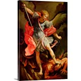 "The Archangel Michael Defeating Satan Canvas Wall Art Print, 16""x24""x1.25"""