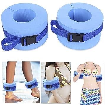 YCGJ Espuma Nadar puños acuáticos, Agua aeróbic Flotador Anillo, Tobillos Cinturones de Brazos con