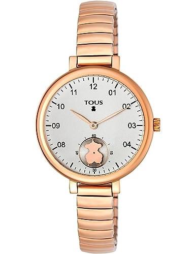 Reloj TOUS Spin Flex 700350200 de acero ip rosa para mujer: Amazon.es: Relojes
