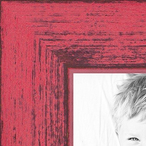 額縁 ラスティックな仕上げのターコイズ色バーンウッド製 枠幅0.75インチ 8.5 x 14