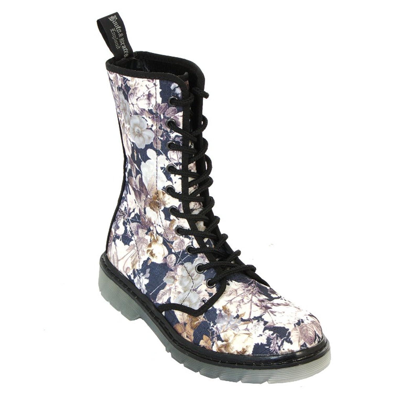 Boots & Braces - easy 10-Loch TR September Damen Stiefel Flowers Boots Rangers