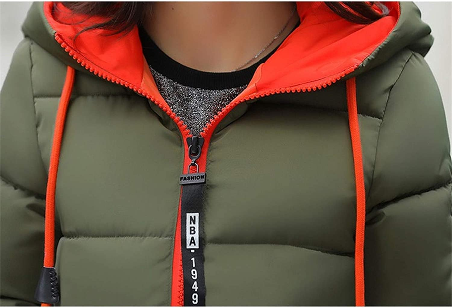 Show-Show-Fashion/&coats Winter Down Cotton Jacket Long Parkas for Women Thick Warm Hooded,ArmyGreen,M