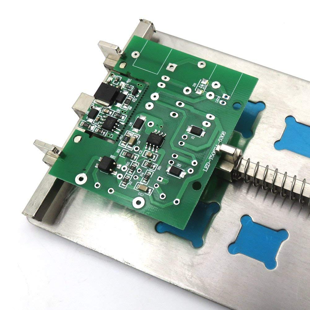Tkdmr Sliver Adjustable Mobile Phone Pcb Circuit Board Holder With 5 Metal Repairing Repair Tool For Kinds Of Ic Grooves And Soldering