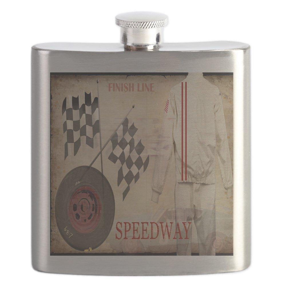 【爆買い!】 CafePress – – Speedway – ステンレススチールフラスコ Speedway、6オンスDrinkingフラスコ – B01LOQFSNC, yes style:5c63f49c --- a0267596.xsph.ru