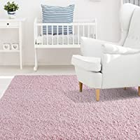 iCustomRug Affordable Shaggy Rug Dixie Cozy & Soft Kids Shag Area Rug Solid C...