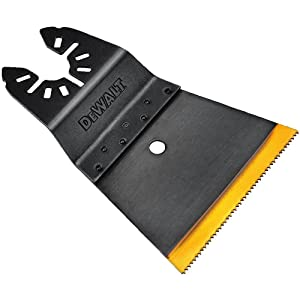 DEWALT DWA4281 Bi Metal Wood with Nails Oscillating Blade with Titanium teeth, 2-1/2""