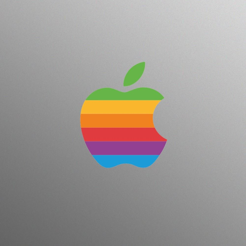 colorful apple logos. Amazon.com: Supertogether Retro Apple Logo Multicolour Rainbow Style Vinyl Decal Brand Sticker For MacBook / Pro And Air Laptop With Glowing Colorful Logos