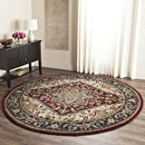 Safavieh Heritage Collection HG625A Handcrafted Traditional Oriental Heriz Medallion Red Wool Round Area Rug (6' Diameter)