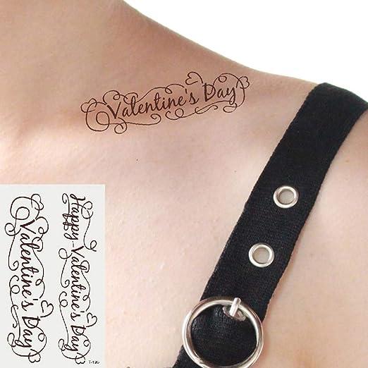 Oottati 2 Hojas Pequeño Lindo Tatuaje Temporal Tattoo Día De San ...