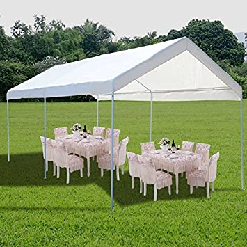 Cnlinkco 10 x 20 Steel Frame Canopy Shelter Portable Car Carport Garage Cover Party Tent Outdoor : 10 x 20 frame tent - memphite.com