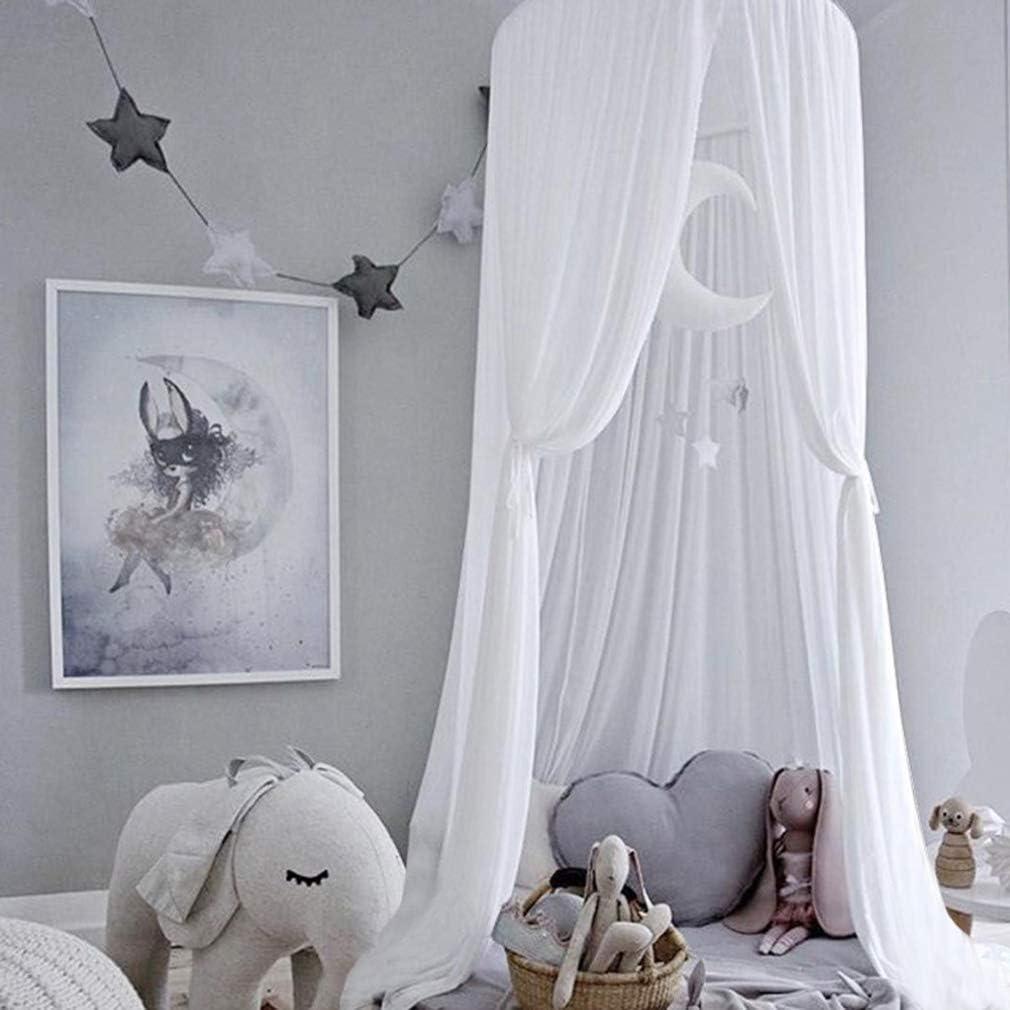 Princess Chiffon Hanging Mosquito Net for Kids Bed Dome Chiffon Bed Sky Mosquito Net Game Tent Well