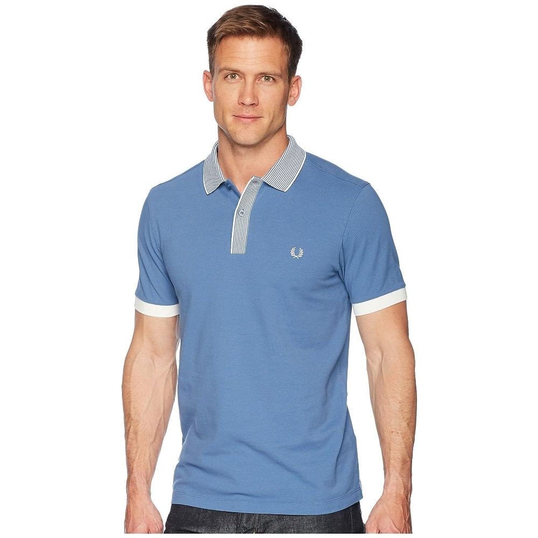 (フレッドペリー) Fred Perry メンズ トップス ポロシャツ Stripe Collar Pique Shirt [並行輸入品] B07F9KC5Q8 Medium
