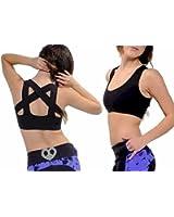 Fitness Etc. Women's Criss Cross Activewear Bra Top