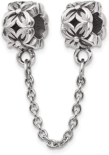 Reflection Beads Sterling Silver Small Floral Bead 7 x 7 mm