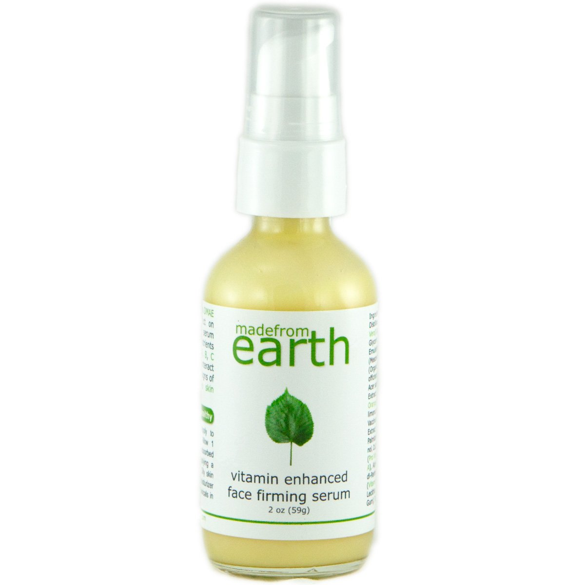 Vitamin Enhanced Face Firming Serum with organic nutrients of CoQ10, DMAE, and Vitamins A, B, C and E.