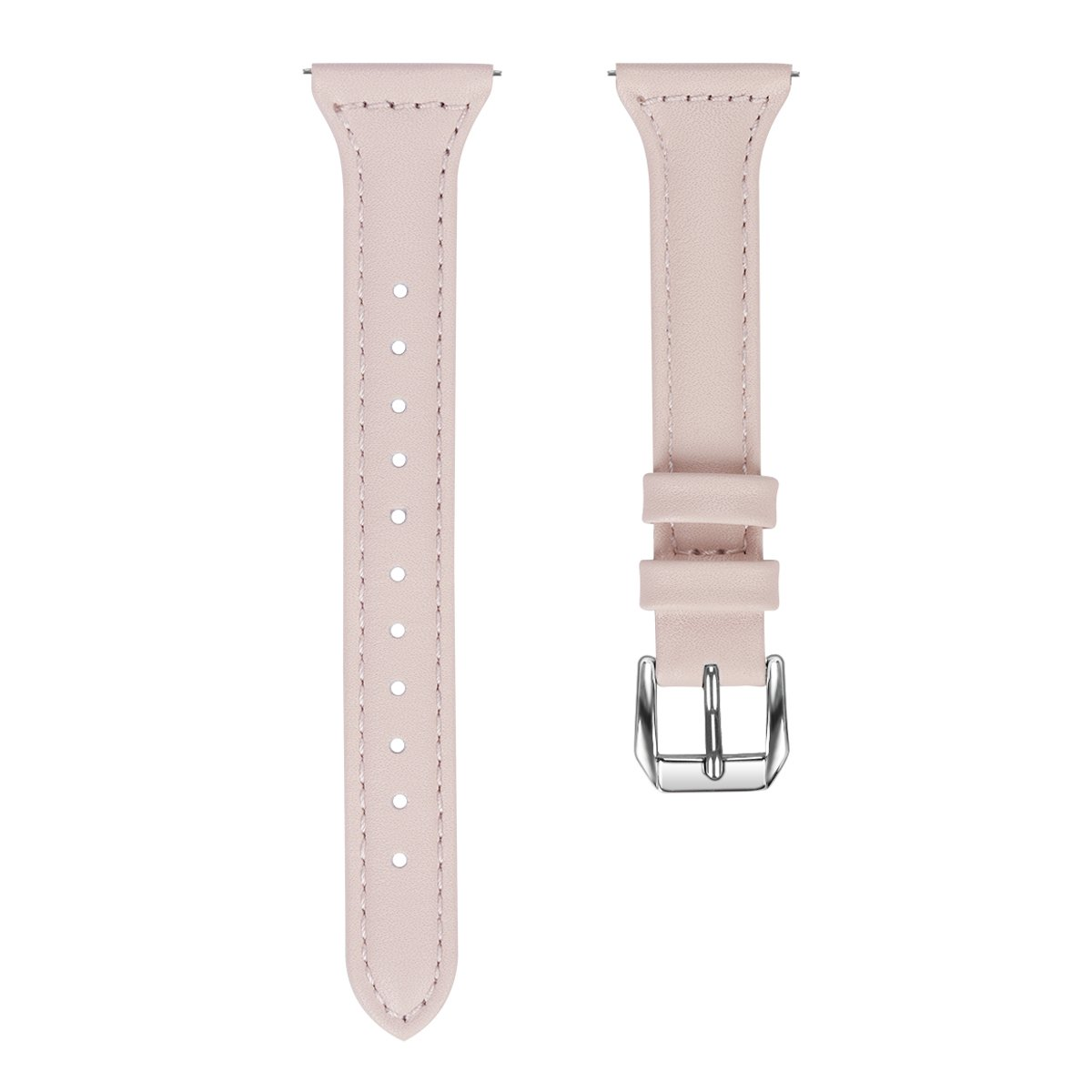 For Fitbit Versa Watch Genuine Cow Leather Pink Watch Band Watch Strap Pin Buckle Replacement Wristband