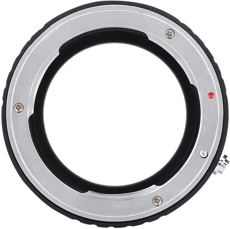 Serounder Manual Lens Mount Adapter Ring,Professional Premium AI-EOS M Manual Full Alloy Adapter Ring for Nikon F Lens for Canon EOS-M Mirrorless Camera
