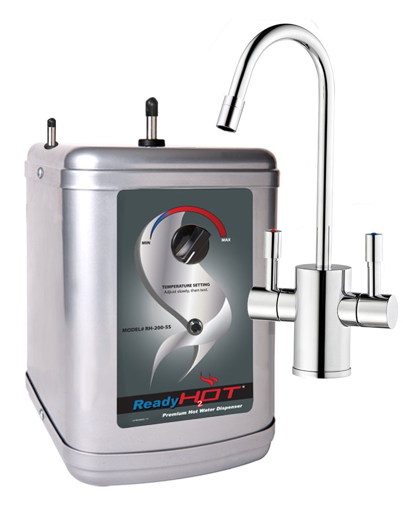 Ready Hot RH-200-F560-CH Stainless Steel Hot Water Dispenser System, Includes Chrome Dual Lever Faucet