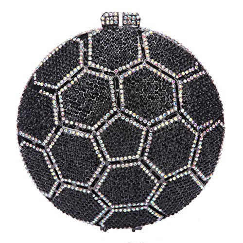 Fawziya Soccer Ball Crystal Clutch Purses Handbags For Women - One Day Sale Uk