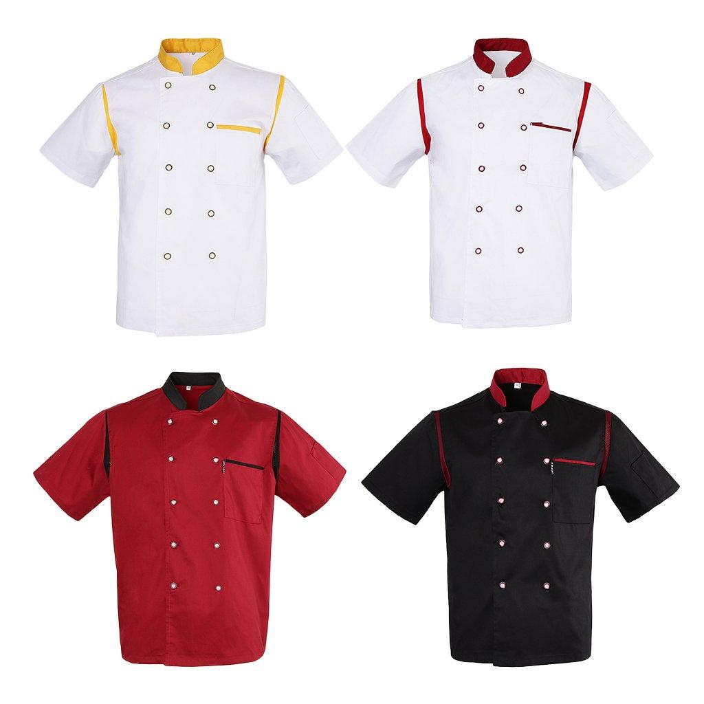 D Dolity Giacca da Cuoco Giacche da Chef,Abbigliamento Da Uomo