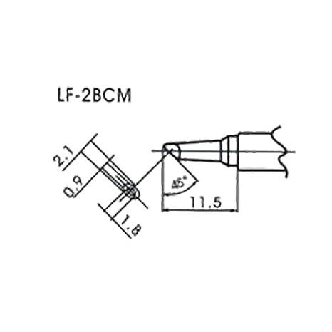 AOYUE WQ LF-2BCM Puntas soldadura sin plomo para Flow Type Soldador 45°