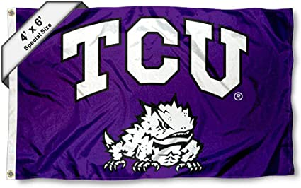 College Flags and Banners Co TCU Horned Frogs 4x6 Flag