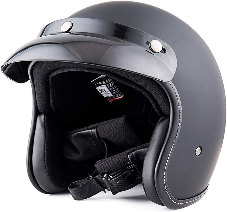 JTYX Motorradhelm Jethelme Retro Halber Helm Mofa-Helm Bike Helm Schutzhelm Unisex Motorradhelm Verstellbar Fahrrad Helm Adult Unisex ECE Zertifizierung