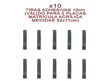 10 TIRAS ADHESIVAS DOBLE CARA PARA FIJAR/PEGAR MATRICULA ACRILICA 52 x 11 cm METACRILATO COCHE SIN TORNILLOS KIT DE MONTAJE + INSTRUCCIONES: Amazon.es: ...